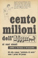 # AGIP GAS 1950s Car Italy Advert Pub Pubblicità Reklame Gaz - Altri