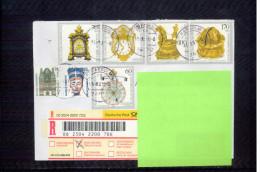 Deutschland / Germany 1992 Alte Uhren / Old Watches On Priority Registered Letter - Uhrmacherei