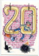 CPM 45 SAINT DENIS EN VAL 20ème Bourse 1999 - Illustrateur : Geo THIERCY - France