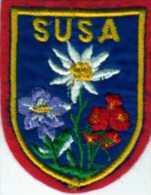 Ecusson Tissu, Feutrine Brodée, SUSA Format 6x7,5 Cm - Ecussons Tissu