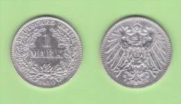 ALEMANIA  / GERMANY (IMPERIO)  1 MARCO  PLATA /SILVER   1.910 E  KM#14  EBC/XF    DL-10.910 - 1 Mark