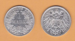 ALEMANIA  / GERMANY (IMPERIO)  1 MARCO  PLATA /SILVER   1.911 A  KM#14  MBC/VF    DL-10.913 - 1 Mark