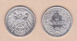 ALEMANIA  / GERMANY (IMPERIO)  1 MARCO  PLATA /SILVER   1.915 G  KM#14  EBC/XF    DL-10.916 - [ 2] 1871-1918 : Imperio Alemán
