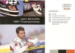 BTCC 1997  2 Plaquettes Audi Sport Franck Biela-John Bintcliffe  Très Bon Etat - Automobile - F1