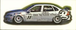 BTCC 1997 Warwick Vauxhall Vectra Autocollant 10x24,8 Cm - Automobile - F1