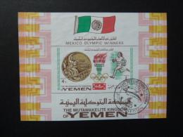 "BLOC FEUILLET ""YEMEN"" (Mutawakelite Kingdom) - Non Dentelé - Sommer 1968: Mexico"