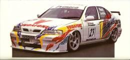 BTCC 1997 Leslie Nissan Autocollant  11x23 Cm - Automobile - F1