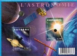 FRANCE TIMBRE BLOC FEUILLET  EUROPA L'ASTRONOMIE - Astronomy