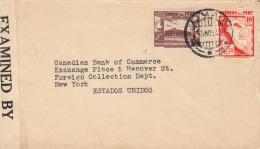 PERU 1942 - Examined, 10 + 5 Cts Auf Brief Lima > New York - Peru