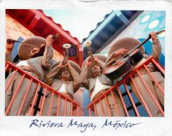 Riviera Maya, Mexico Postcard Used Posted To UK 2004 Stamp - Mexique
