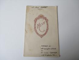 Alte Speisekarte / Menukarte / Menucard. Handgeschrieben / Handwritten!! 16.9.1950 Saint Raphael - Menükarten