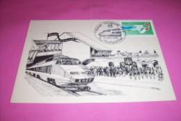 VOYAGE INAUGURAL DU TGV  MONTPELLIER LE 21 05 1982 - Bahnhöfe Mit Zügen