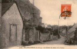 ROCHECORBON - Le Chemin Du Côteau Et La Falaise   - 1915 - - Rochecorbon