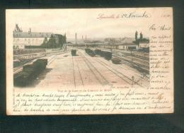 Lunéville (54) - Vue De La Gare Et Couvent Du Menil ( Train Chemin De Fer Colorisée Ed. Bastien) - Luneville