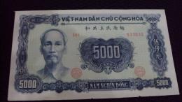 North Vietnam Viet Nam AU Banknote 5000 Dong 1953 - P#66a - Vietnam
