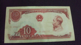 North Viet Nam Vietnam 10 Dong VF Banknote 1958 P#74a - Vietnam