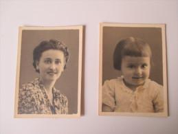 2 Fotos 1939 Mutter Und Tochter?? Kriegsgefangenlager Stempel: Stalag X B 20 Geprüft. - Personas Anónimos