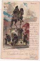 Berlin - Denkmal Friedrich Des Grosse - Postcard Travelled Locally In Croatia 1899 - Mitte