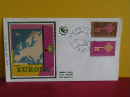 FDC- EUROPA CEPT - PARIS - 27.4.1968 - 1er Jour, - Europa-CEPT