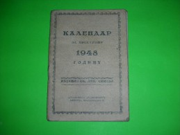 R!,Religion,christianity,pocket Calendar,orhodox Church,sinod,prayers,vintage,Serbia,Belgrade - Tamaño Pequeño : 1941-60