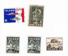 Island Diverses Périodes: Y&T 186, 254, 283 (2x) Et Export 1992 (n° ??) - Islande