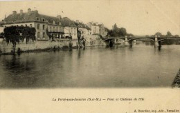 77- La FERTE-sous-JOUARRE-Pont Et Château De L´Ile-Dos Non Divisé,précurseur - La Ferte Sous Jouarre