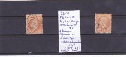 TIMBRE DE FRANCE OBLITERE  N R 23 + 23 OBL BUREAUX FRANCAIS A L ETRANGER 1863-70 NAPOLEON III  LAURE COTE 22€ - 1863-1870 Napoléon III. Laure