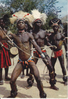 CPSM AFRIQUE EN COULEURS DANSEURS TORSES NUS NOIRS DU GROUPE MEDY IRIS 2647 - Cartes Postales
