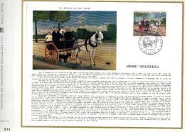 Feuillet Tirage Limité Henri Rousseau Peintre Peinture La Carriole Du Père Juniet - Blocs & Feuillets