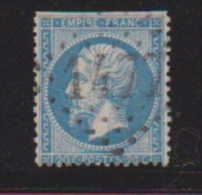 20 Centimes Bleu //  N 22  //  Cachet 1477  //  Fayl - Billot - 1862 Napoleon III
