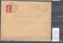 Lettre Cachet Courcon à Epannes - Indice 9 - Postmark Collection (Covers)