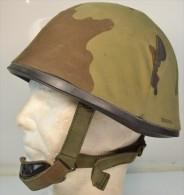 Casque F1 Armée Française Avec Couvre Casque Camouflé Flektarn, Camouflage Allemand. Airsoft / Paintball / Softair - Equipement