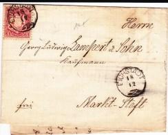 BAYERN - 1870 - LETTRE De EICHSTADT Pour MARKTSTEFT - Deutschland