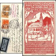 Autriche 1929. Entier Postal Timbré Sur Commande, 8. Österreichsher Philatelistentag In Mödling. Facteur à Cheval, Chien - Cani