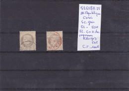 TIMBRE DE FRANCE OBLITERE Nr 52 + 52 C A D DES IMPRIMES ROUGE III REPUBLIQUE CERES  COTE 100€ - 1871-1875 Cérès