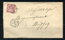 Germany 1869 Nice Baden  Letter Wrapper Waldkirch To Bungholz - Bavaria