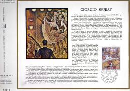 Feuillet Tirage Limité 550 Ex En Italien CEF 115 Giorgio Seurat - Blocs & Feuillets