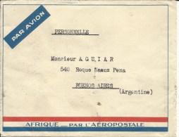 ENV AEROPOSTALE AFRIQUE  TIMBRES 4 N° 261  2 N° 258   3 N° 280 OBLITERE PARIS AVION ET BUENOS  AIRES - Marcofilia (sobres)