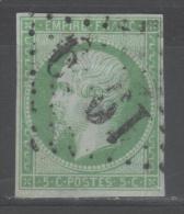 Napoléon III  N° 12 Avec Oblitèration Losange Centrale Grands Chiffres, Voir Etat - 1853-1860 Napoléon III
