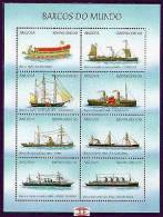 ANGOLA   1089  MINT NEVER HINGED MINI SHEET OF SHIPS  # M - 026-2   ( - Barcos