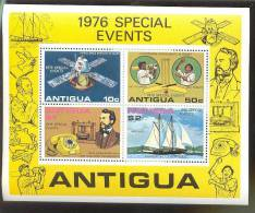 ANTIGUA   458A  MINT NEVER HINGED MINI SHEET OF SPECIAL EVENTS ; SHIPS   ( - Bateaux