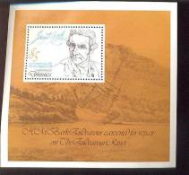 DOMINICA   629  MINT NEVER HINGED SOUVENIR SHEET OF CAPT. COOK ; SHIPS - Boten