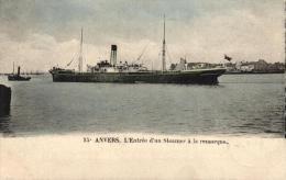 BELGIQUE - ANVERS - ANTWERPEN - L'Entrée D'un Steamer à La Remorque. - Antwerpen