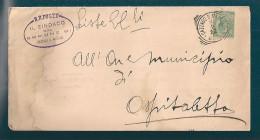 STORIA POSTALE PIEGO DA CAZZAGO SAN MARTINO PER OSPITALETTO DEL 6-2-1922 - 1900-44 Vittorio Emanuele III