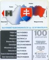 Telefonkarte Slowakei - Landkarte,map -  Wappen - Aufl. 40000 - Slowakei