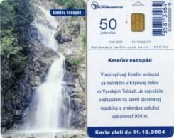 Telefonkarte Slowakei - Landschaft - Wasserfall  - Aufl. 150000 - 10/2002 - Slowakei