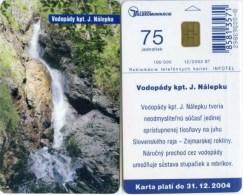 Telefonkarte Slowakei - Landschaft - Wasserfall  - Aufl. 100000 - 12/2002 - Slowakei