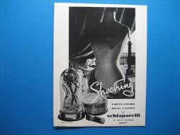 Publicité 1937  SCHIAPARELLI  Parfum Shocking - Advertising