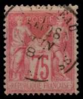 FRANKREICH 1876 Nr 66II Zentrisch Gestempelt 8307EE - Non Classés