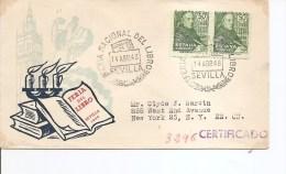 Fetes -Fete Du Livre ( Document Commémoratif D'Espagne De 1948 Voyagé Verts Les USA à Voir) - Unclassified